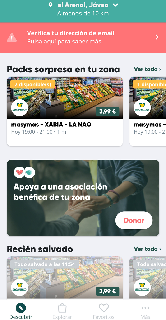 Supermercados Masymas se une a Too Good To Go para combatir el desperdicio de alimentos